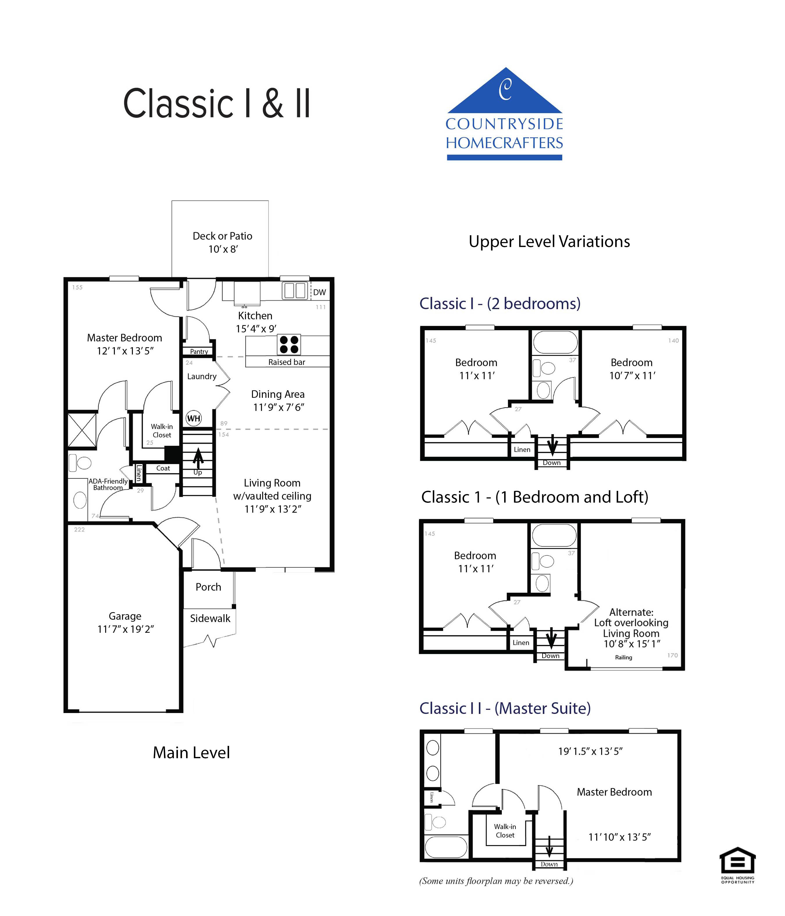The classic i ii countryside homecrafters for Ici floor plans